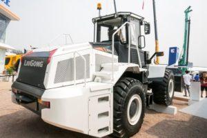 LiuGong showt drie elektrische machines en een op afstand bestuurbare wiellader